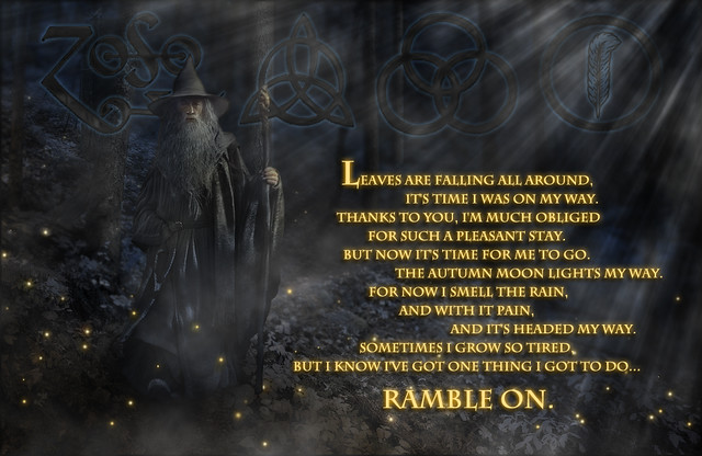 Ramble On Lord Of The Rings Video
