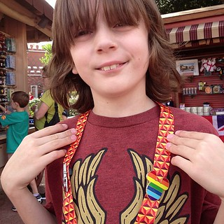 Jack pin trading and showing his LGBT support!! #newfantasyland | by QueenofSpainErin