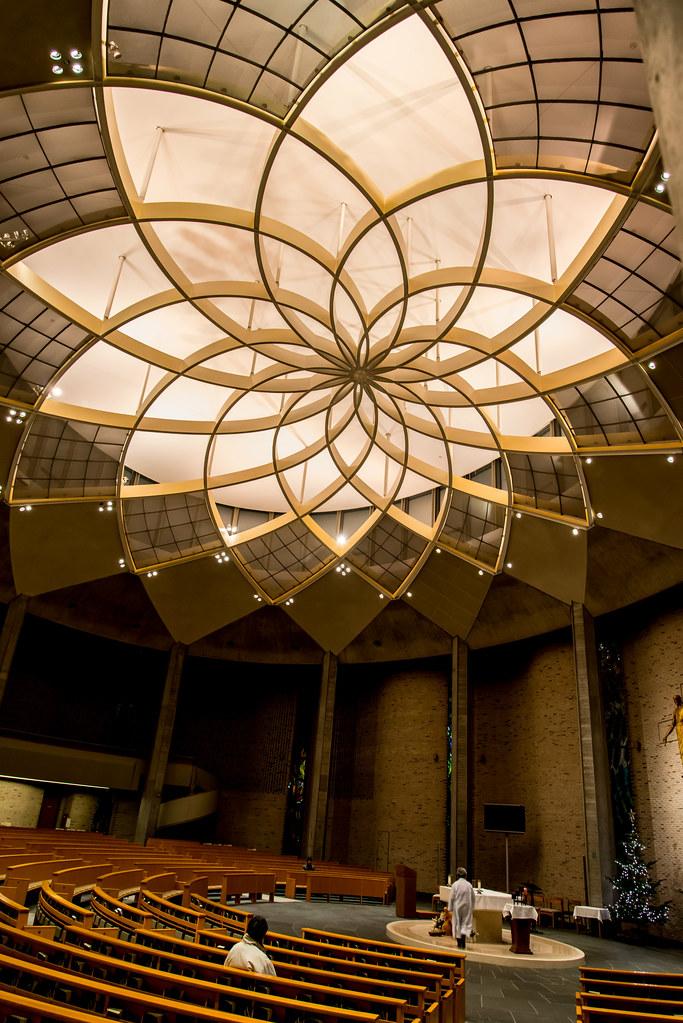 Lotus Ceiling St Ignatius Church Kojimachi Tokyo