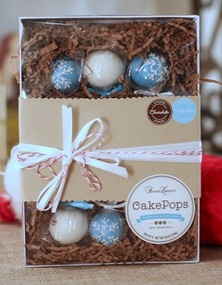 Chocolate and Vanilla Bean Snowflake and Snowball Cake Pops | by Sweet Lauren Cakes