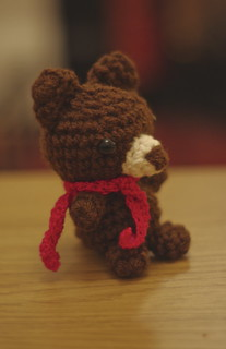 amigurumi #93 SS bear with a red scarf | by nnaoko