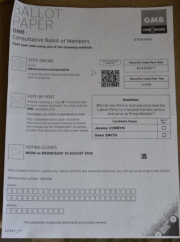 GMB Labour ballot Aug 16 1