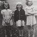 Ann, Jeannie, Mary:  Photo by ???? lst day of school, 1945?