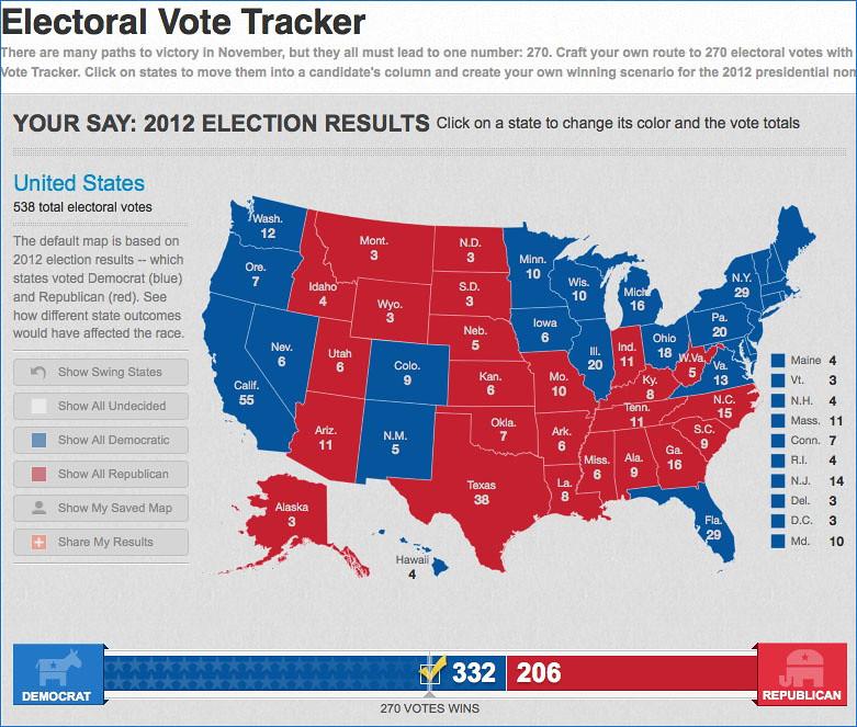 usa today 2012 electoral vote tracker my electoral college flickr