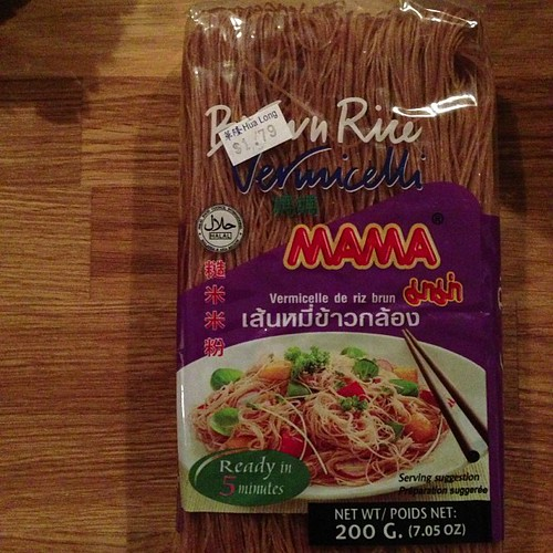 I am unreasonably excited about brown rice vermicelli. I hope they are good as many brown rice items can be mushy & weird | by yougrowgirl
