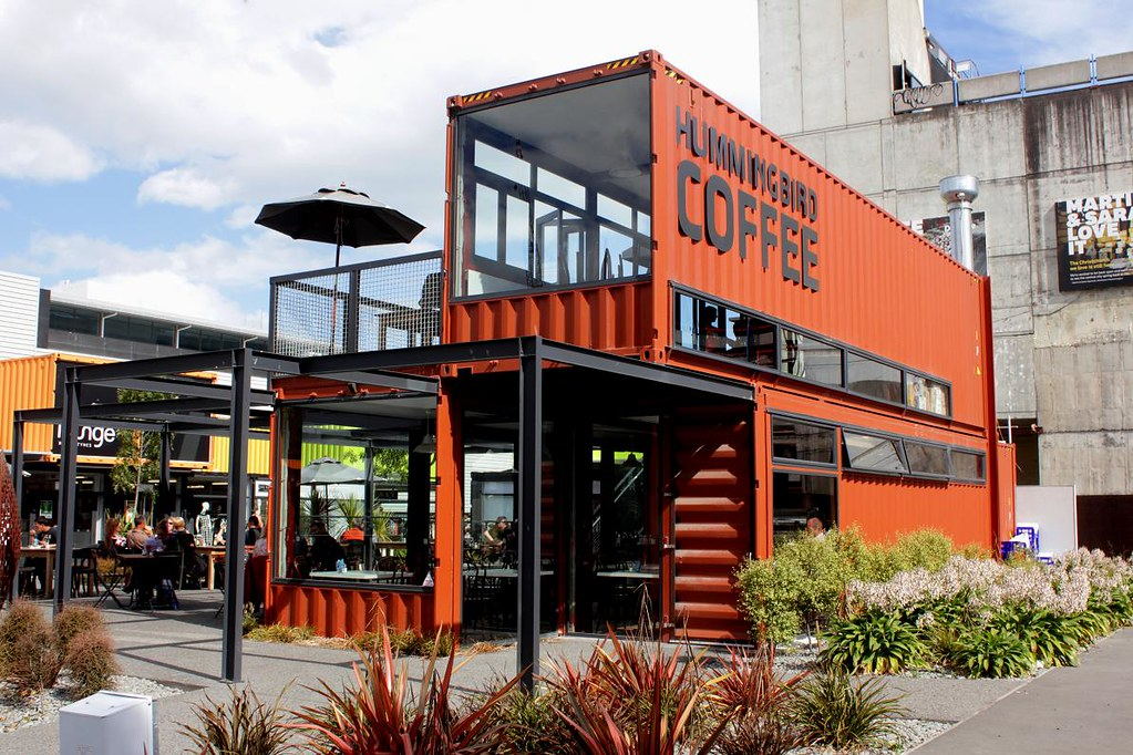 Christchurch City Container Mall Very Cool Cafe Build