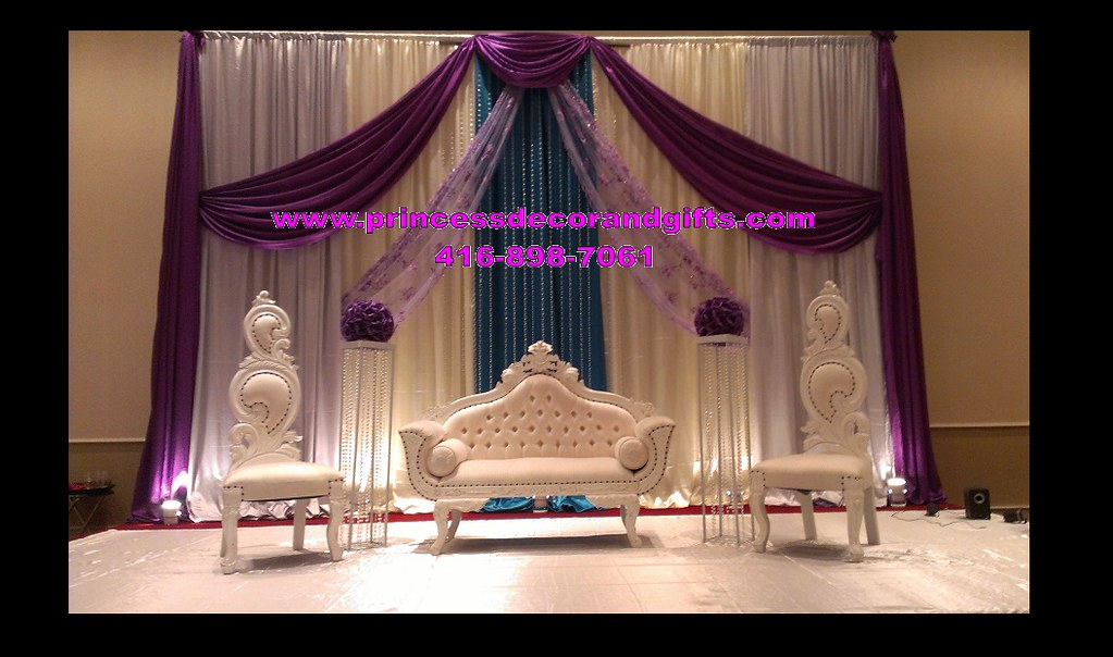 Royal Purple Wedding Decor- Red Rose Banquet Hall | THESE PI… | Flickr