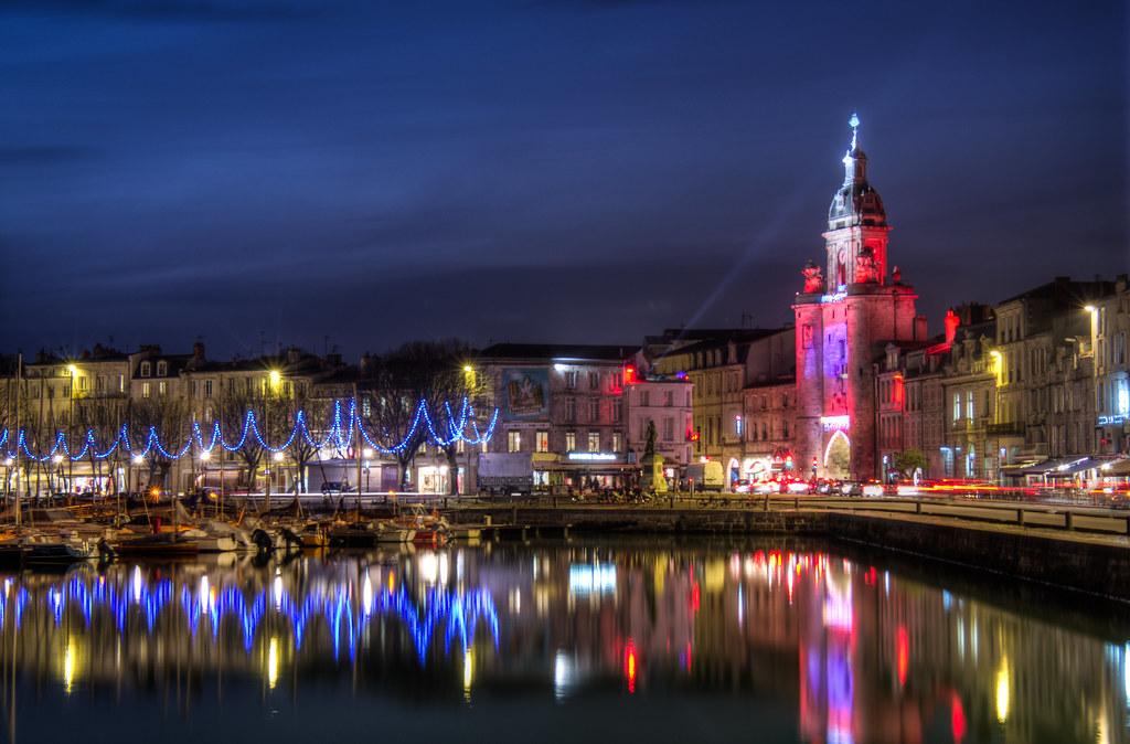 La Rochelle Grosse Horloge Et Illuminations De No 235 L Flickr