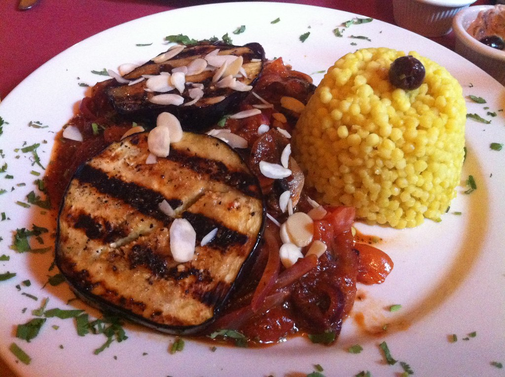 Aya's Cafe | grilled eggplant with Israeli couscous ...