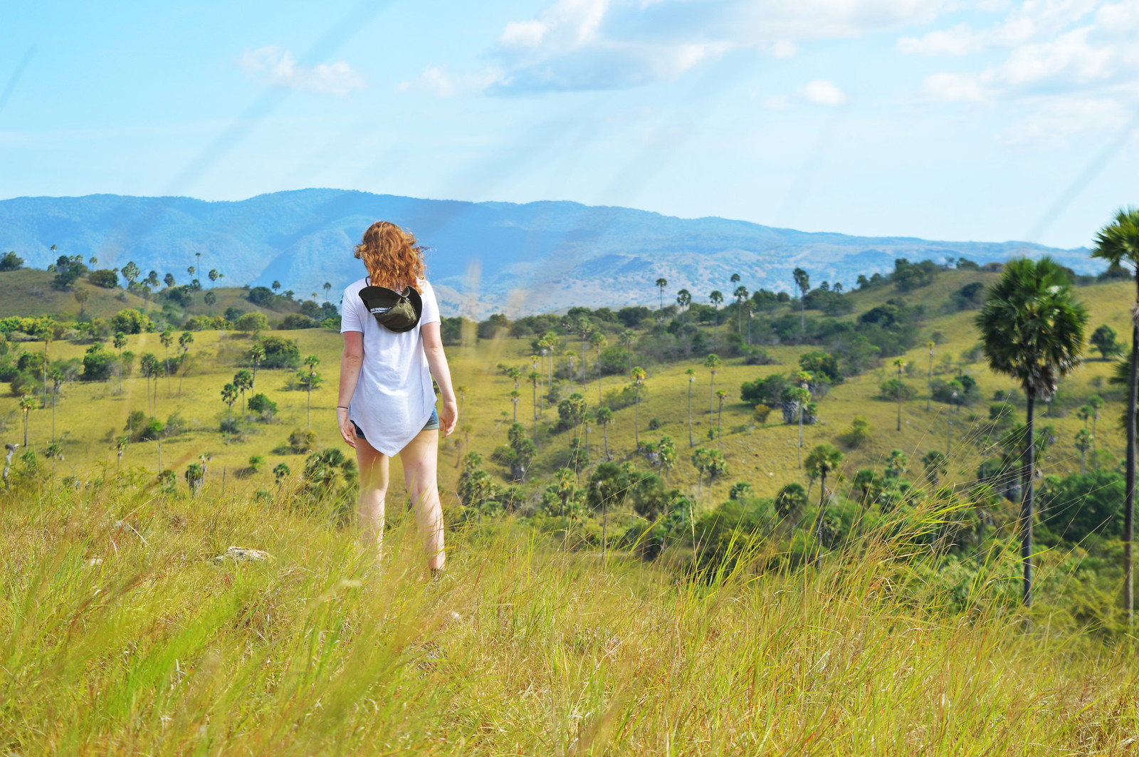 Hiking the trails at Rinca Island, Komodo National Park.