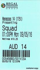 Suicide Squad ticketstub