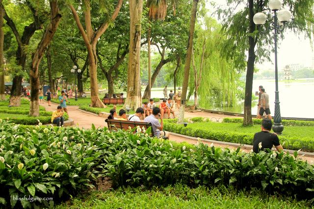 Hoan Kiem Lake Hanoi Vietnam