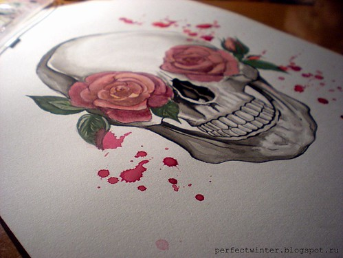 Skull and Roses2 | by Naive_robin
