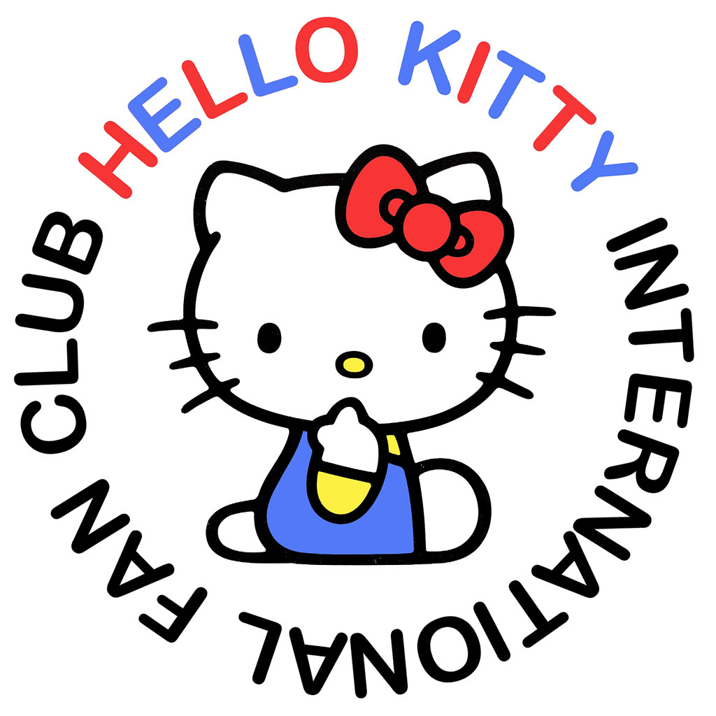 hello kitty international fan club logo i ve just started flickr rh flickr com hello kitty logo font free