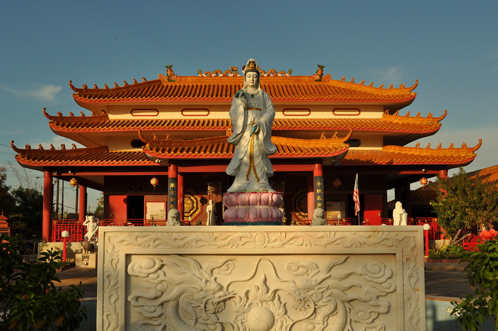 Texas Guandi Temple In Old Chinatown Houston Tx