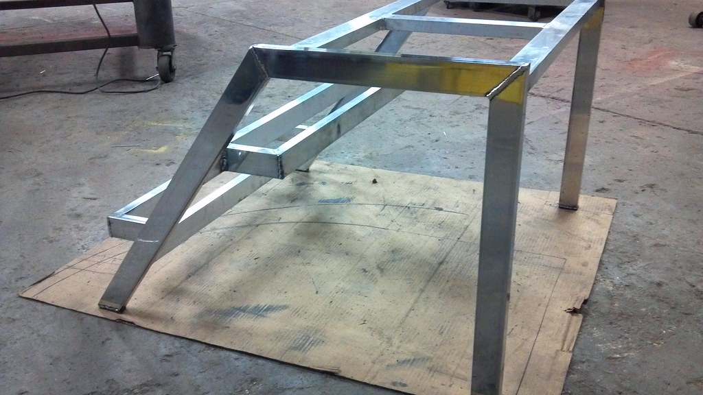 Portable Aluminum Boats : Aluminum stair frame custom boat stairs
