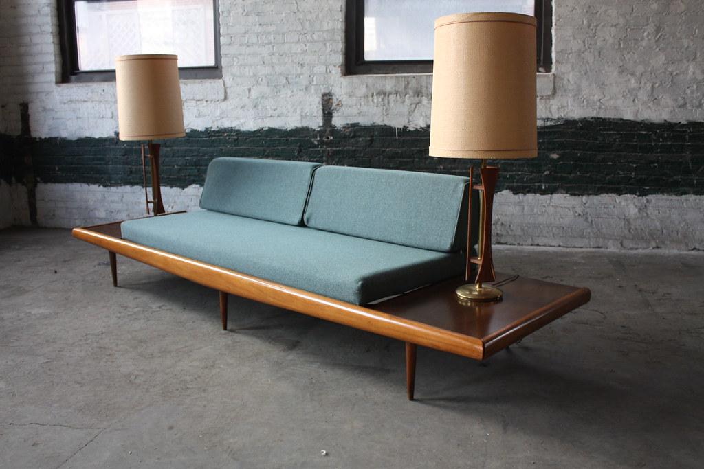 Amazing Adrian Pearsall Mid Century Modern Platform Sofa