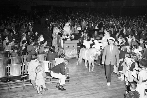 Santa entering Christmas party, 1954 | by Seattle Municipal Archives