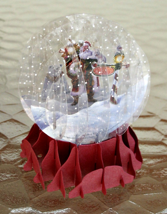 Paper Snow Globe Template Paper Snow Globe | by All