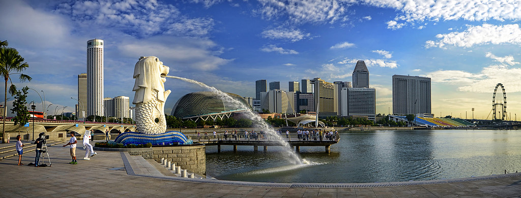 The Merlion of Singapore. In many ways we owe it to her ...