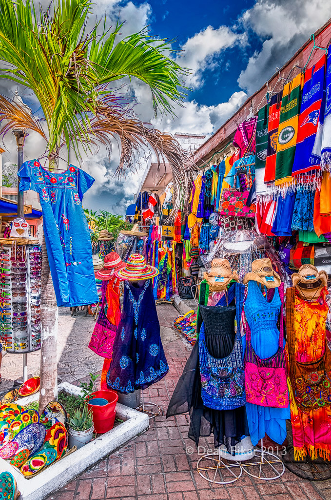 Cozumel Mexico - Shopping Market Editorial Stock Photo ...