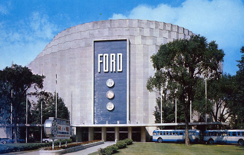 Ford rotunda visitor center dearborn mi located on for Ford motor co dearborn mi