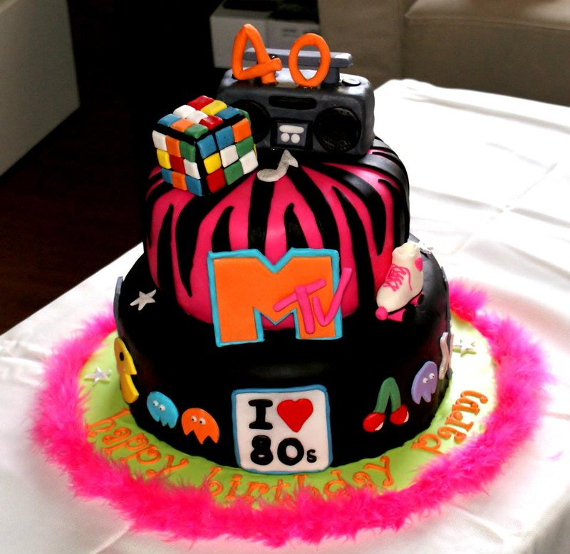 Theme Cake Ideas Source 80 S Themed Birthday Flickr