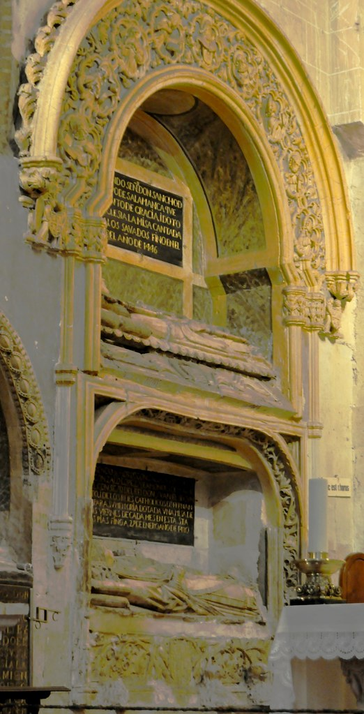 Catedral vieja de salamanca bside central sepulcros de for Viveros salamanca