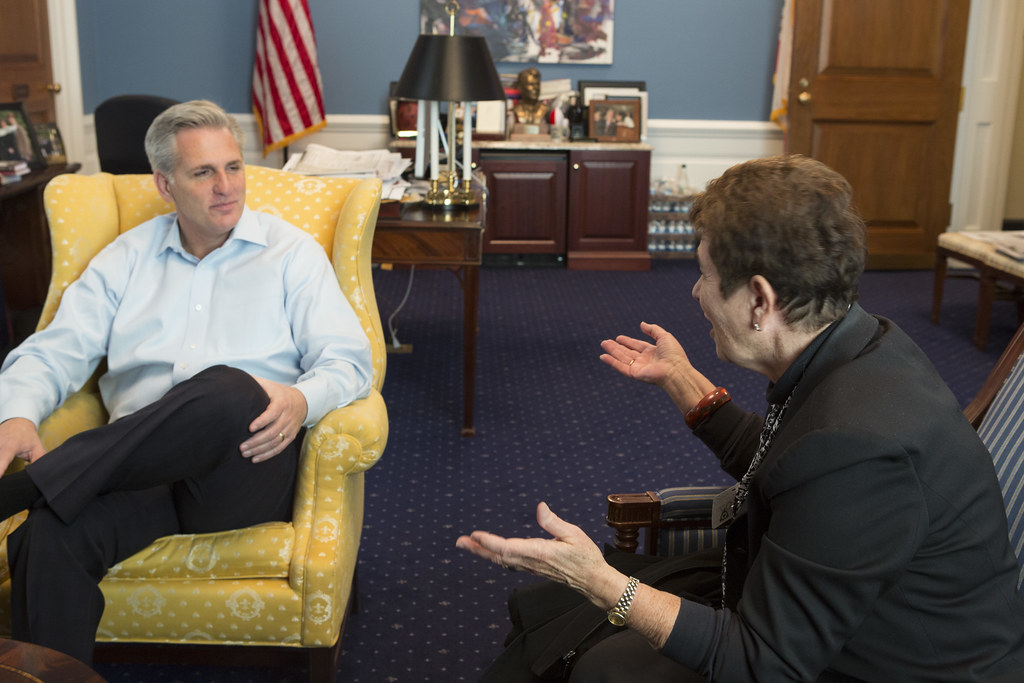 Majority Whip Kevin McCarthy Meeting with Elaine Janson of ...