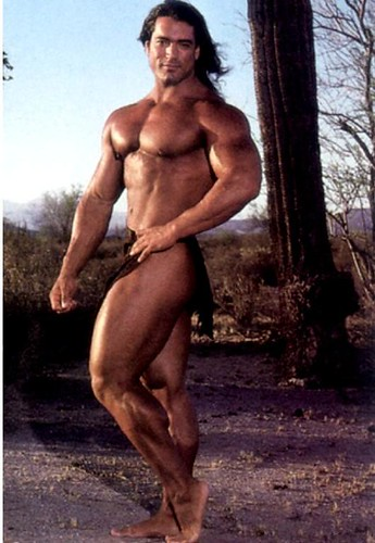 Rusty Jeffers, (1980) | body builder in competition (AKA