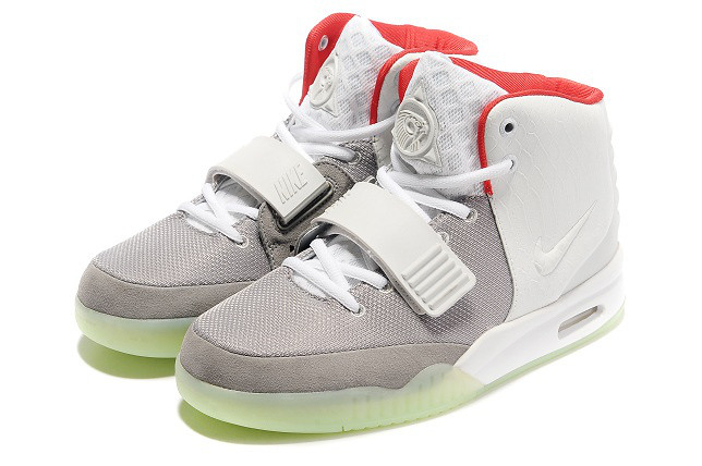 on sale e60da 4c4fb ... air yeezy 2 nike wolf grey pure platinum basketball shoes   by jorlly