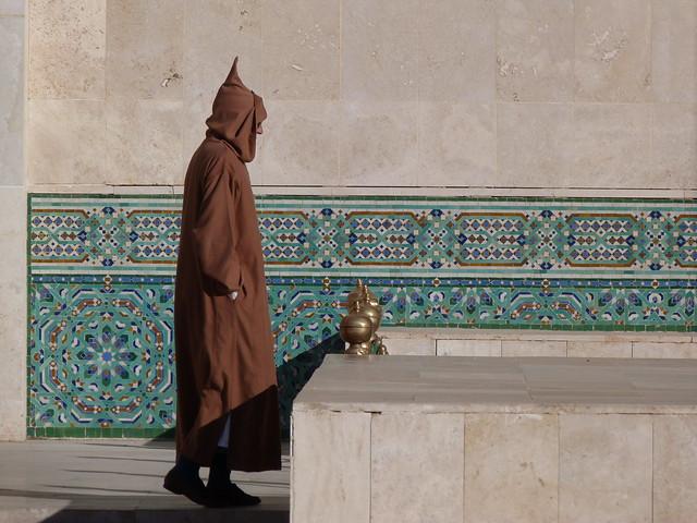 Escena en la mezquita de Hassan II de Casablanca (Marruecos)