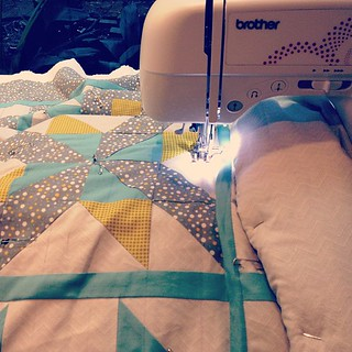 It's happening! Finally quilting my big quilt! Ahhhh! #quilting | by average_jane_crafter