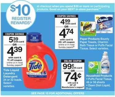 Charmin and Bounty Coupons