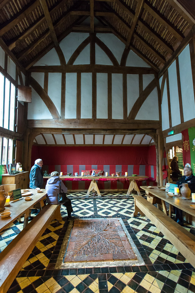Barley Hall the Great Hall Set up for medieval dining