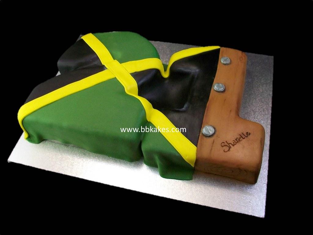 21st Number Jamaican flag Birthday Cake bbkakes BBKakescom Flickr