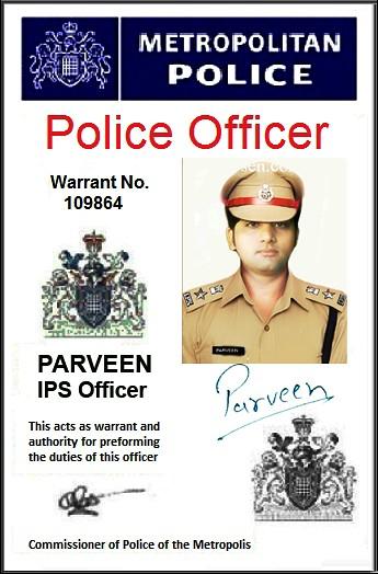 Amy Pond Police Id Card Parveen Chhoker Parveen Chhoker