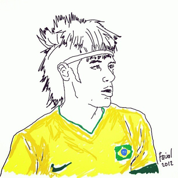 my 15 minutes tracing of neymar tracing sketch drawing flickr