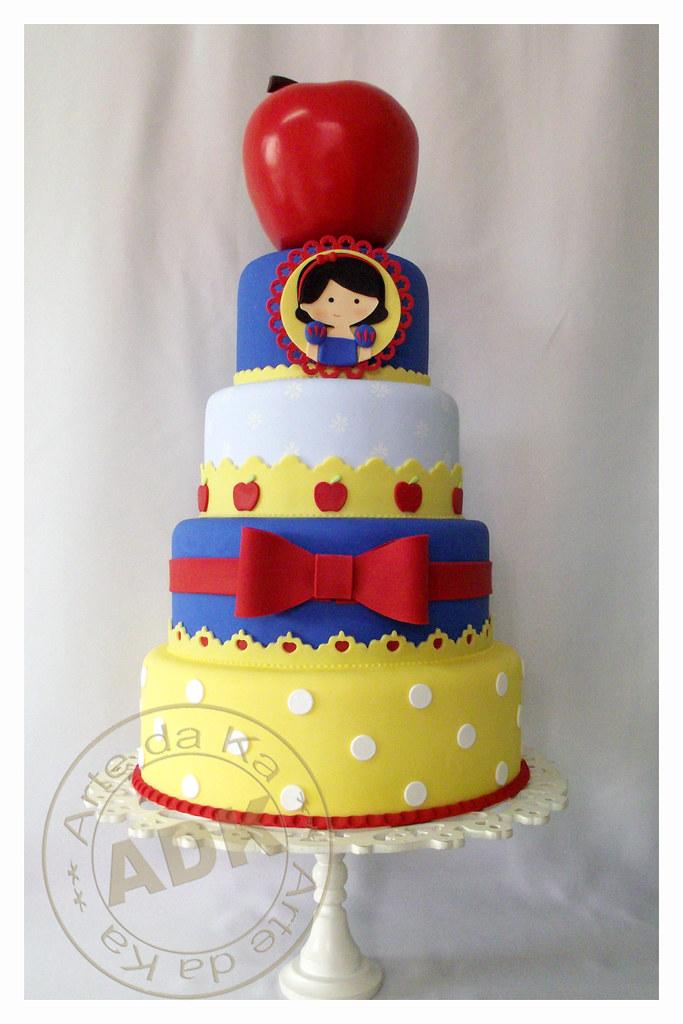 White Tierd Birthday Cake