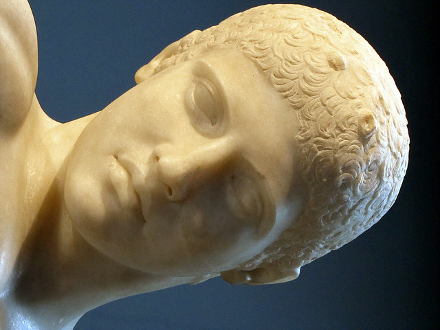 Myron, Discobolus, detail of head   Flickr - Photo Sharing!