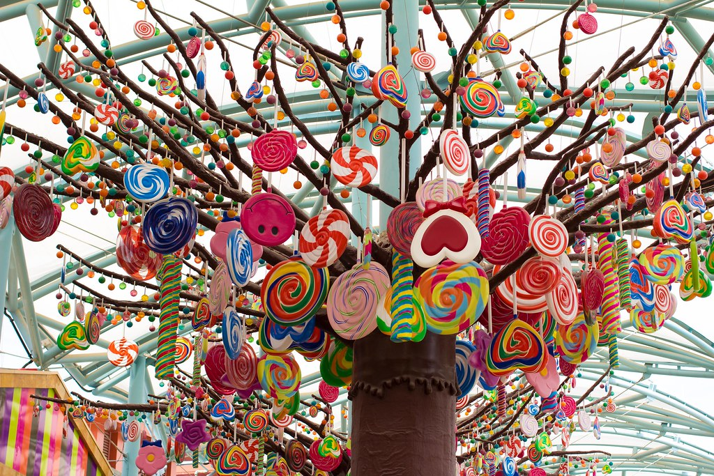 Candy Tree At Universal Studio Singapore