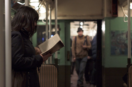 Subway Reading | vintage subway train new-york city | by MichaelTapp