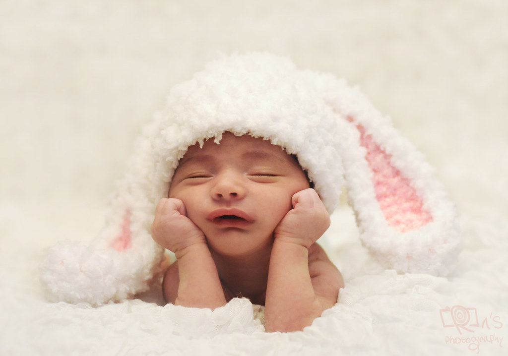 Sleepy Baby Bunny 3 Weeks Old Baby Boy Rawan Mohammad Flickr
