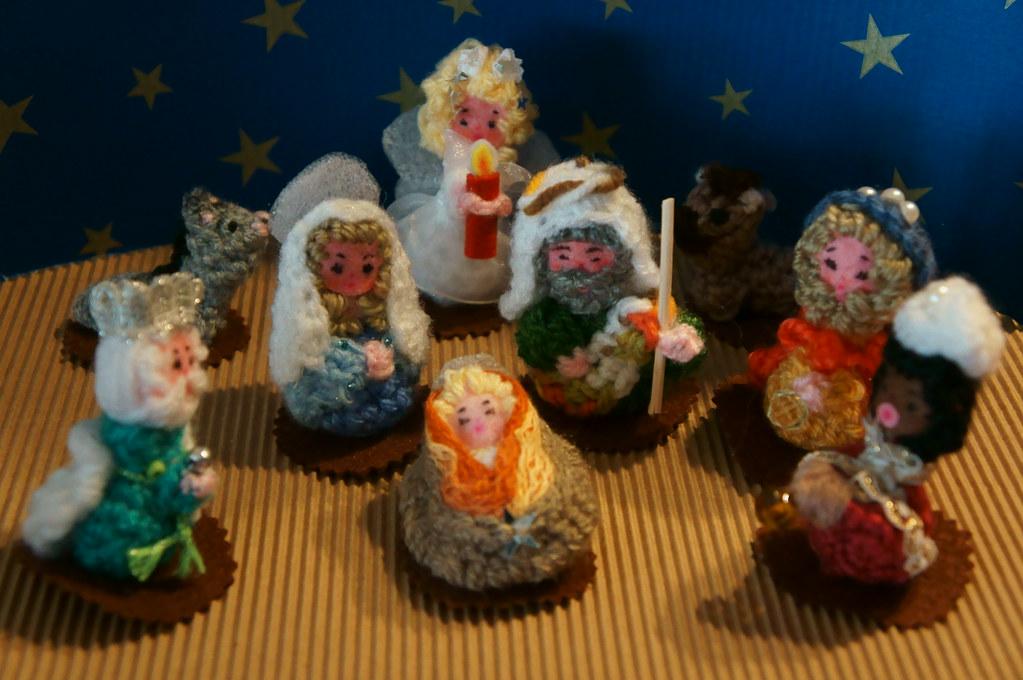 Amigurumi Navidad Nacimiento : Nacimiento amigurumi crochet ganchillo miniaturas dmmalva