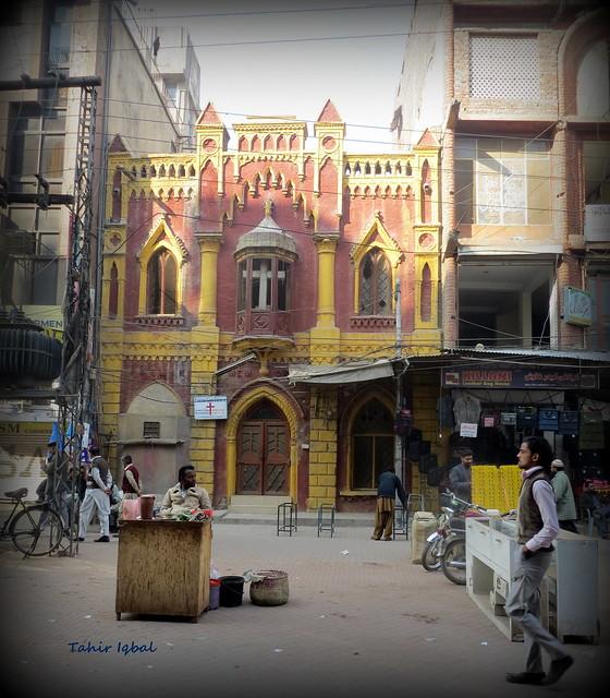 British era church in anarkali bazar lahore punjab for Bano bazar anarkali lahore