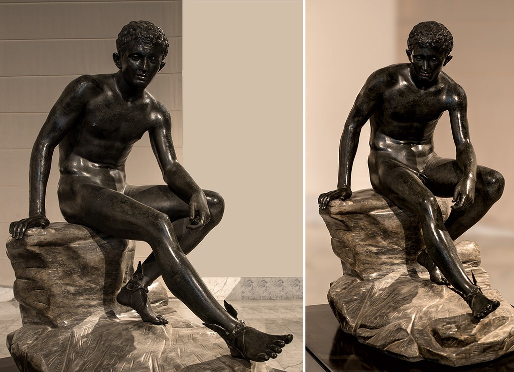 Seated Hermes. Roman copy after work of Lysippos. | The ...