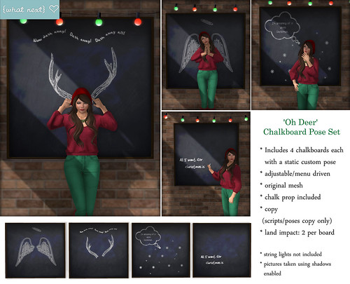 {what next} Oh Deer Chalkboard Pose Set for Lazy Sunday | by WinterThorn