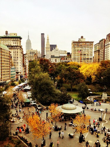 Autumn in New York City - Overlooking Union Square | by Vivienne Gucwa