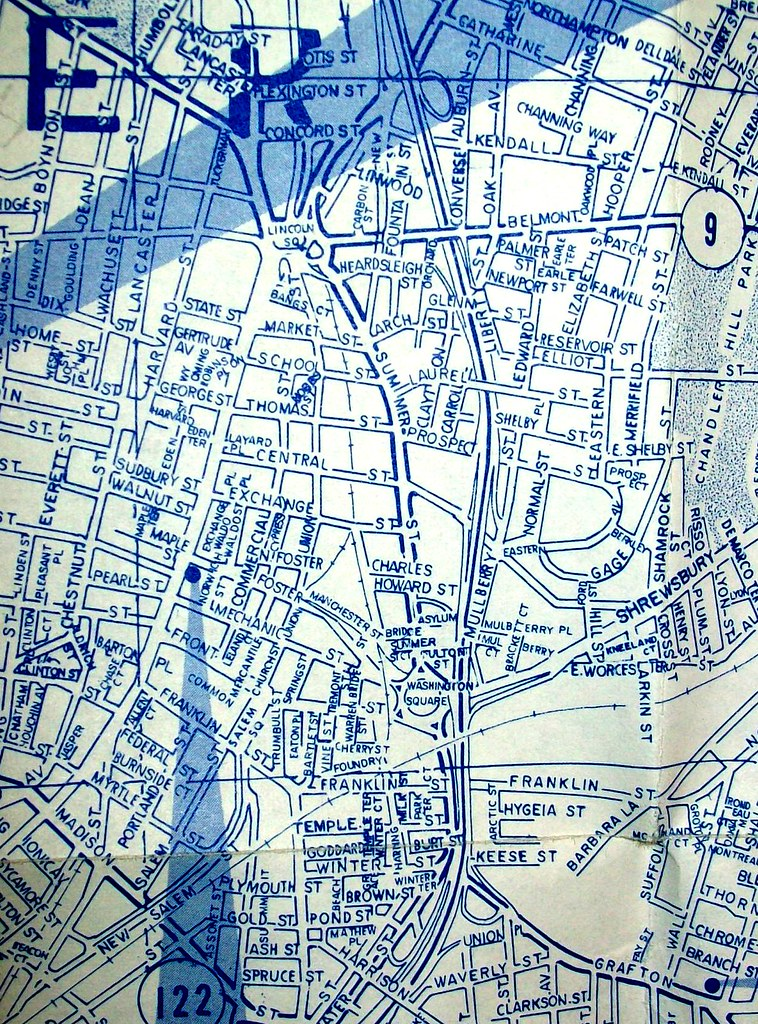 Worcester MA 1971 Map by Arrow Maps published for a bank Flickr