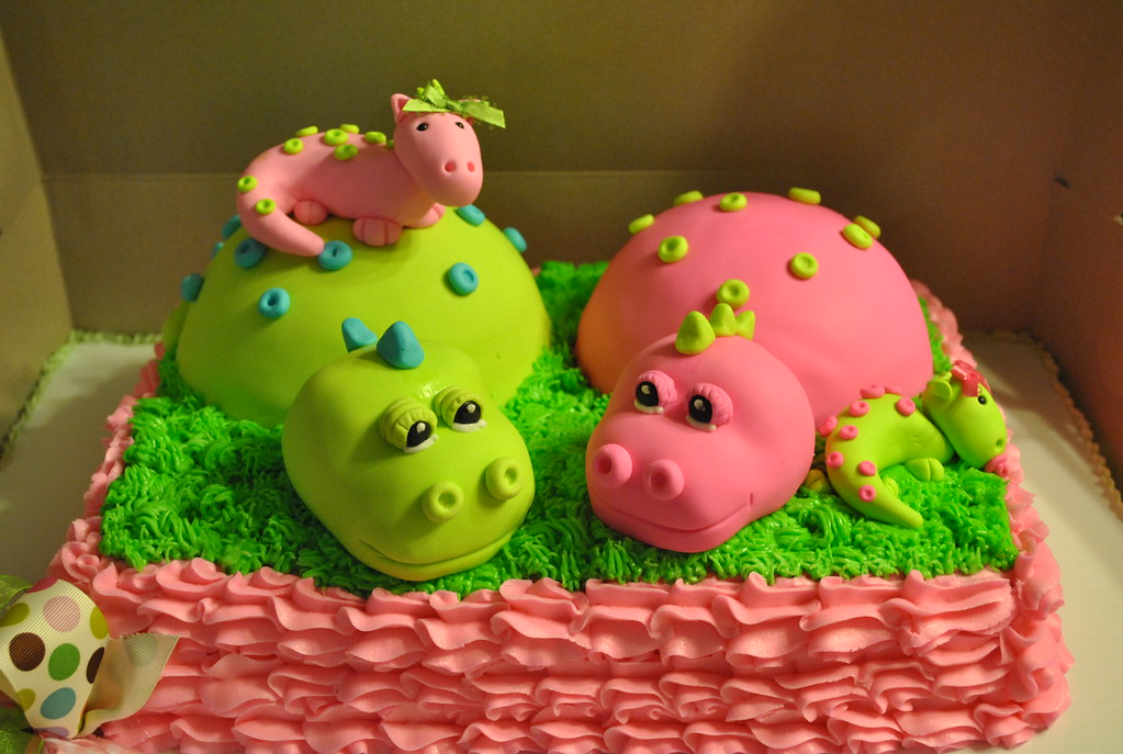 dinosaur baby shower cake stacie terry flickr